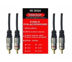 Audio kabel VK 2xRCA - 2xRCA 5m